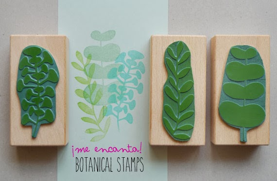¡Me encanta! Botanical Stamps