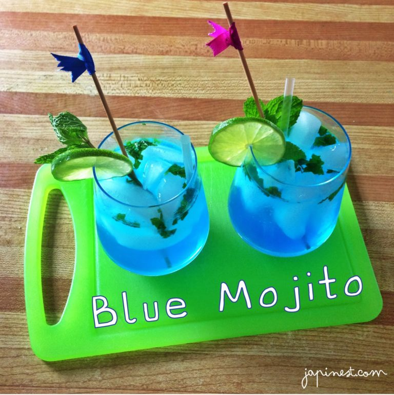 ¡Happy Hour! Blue Mojitos